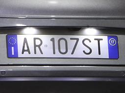 Licence plate lights