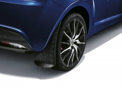 Rear mudflaps splash guards with print design for Alfa Romeo Mito