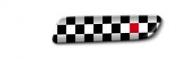 Black Chequered Badge