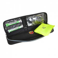 Emergency travel kit with triangle and vest