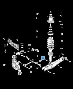Rear shock absorber for Lancia Flavia