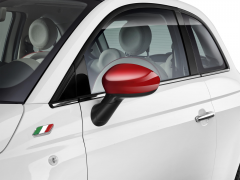 Red mirror caps covers for Fiat 500