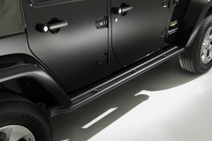 Black running boards side sills under the door for Jeep Wrangler