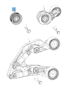 Fixed tensioner for Jeep