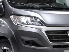 Front lights with integrated LED DRL