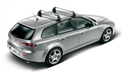 Aluminium roof bars for car for Alfa Romeo 159