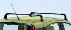 Aluminium roof bars for car for Fiat Panda