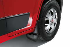 Rubber front splash guards for Fiat Professional Ducato