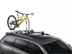 Bike carrier on roof racks