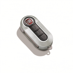 Opaque silver key cover for Fiat and Fiat Professional