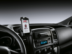 Cell phone holder for Combi and Crew Cab version for Fiat Professional Talento.