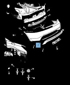 Rear tail lamp for Lancia Flavia