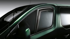 Front window air deflectors for Fiat Professional Talento