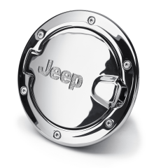 Fuel filler door chrome with Jeep logo