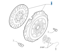 Clutch kit (clutch disc and pressure plate) for Alfa Romeo