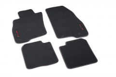 BLACK CARPET MATS RIGHT HAND DRIVE FOR ALFA ROMEO MITO