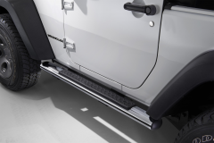 Chrome walkways side sills under the door for Jeep Wrangler