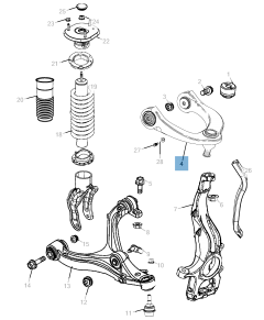Control arm for Jeep Grand Cherokee