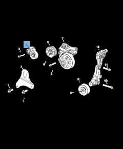 Adjustable tensioner for Jeep