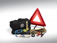 Roadside safety kit with Fiat logo