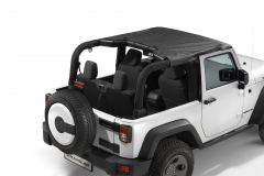 Sunbonnet for hard top and soft top 2 door version