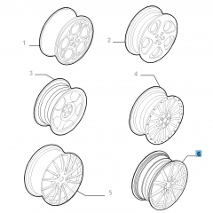 Alloy wheel 8J x 18'' for Alfa Romeo GT