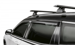 Wind deflectors for front and rear windows