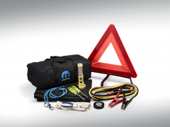 Roadside safety kit with mopar logo