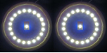 LED interior roof lamps front