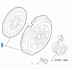 Clutch kit (clutch disc and pressure plate) for Abarth 500