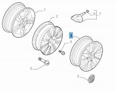 Alloy wheel 6.5J x 17'' ET 41 for Fiat Linea