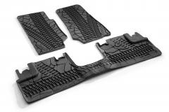 Rubber floor mats for car RHD (black)