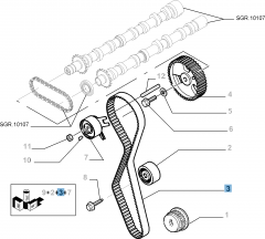 Timing belt with 118 teeth