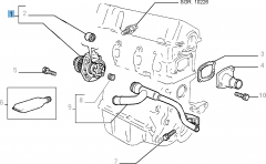 Water pump with gasket for Fiat and Fiat Professional
