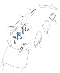 Window regulator for Fiat Freemont