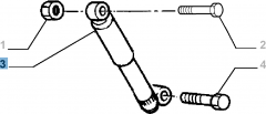 Rear shock absorber for Fiat Professional Strada