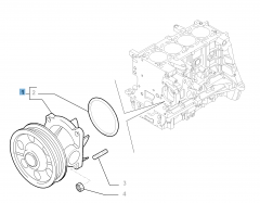 Water pump with gasket