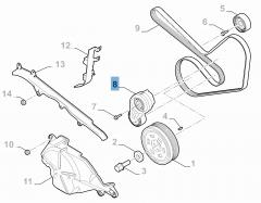 Adjustable tensioner for Alfa Romeo