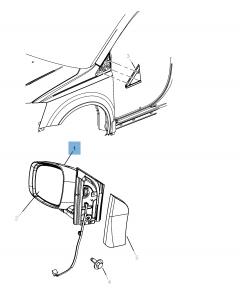 External wing mirror for Lancia Voyager