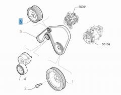 Fixed tensioner for Alfa Romeo
