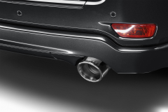 Chrome exhaust tip with Jeep logo for Jeep Grand Cherokee