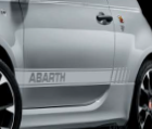 Abarth side stripes: White