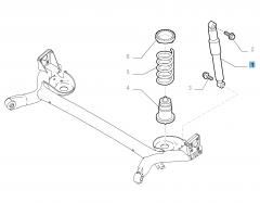 Rear shock absorber for Fiat 500