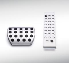Aluminium sport pedal set for automatic transmission