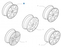 Alloy wheel 7J x 17'' ET 40.5 for Alfa Romeo 147