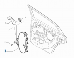 Rear left window regulator, for Fiat and Fiat Professional