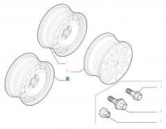 7J x 16'' Steel rim for Fiat Professional Scudo