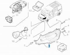 Left headlamp for Fiat Professional Scudo
