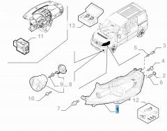 Right headlamp for Fiat Professional Scudo