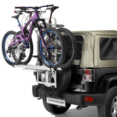 Spare tyre bike carrier for 2 bikes